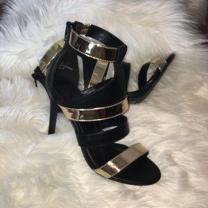 Charlotte Russe women's 7 scrappy cut out heels